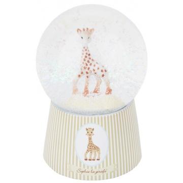 Sophie de Giraf Muzikale Sneeuwbol Op Voetstuk