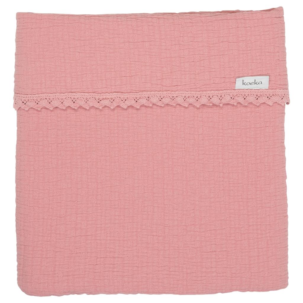 Koeka Cot Blanket Elba Lace - 100x150 cm.