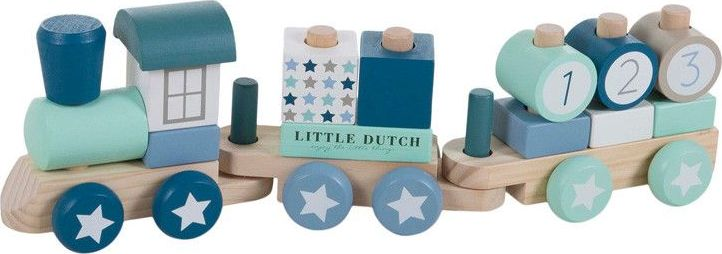 Little Dutch Houten Blokken Trein