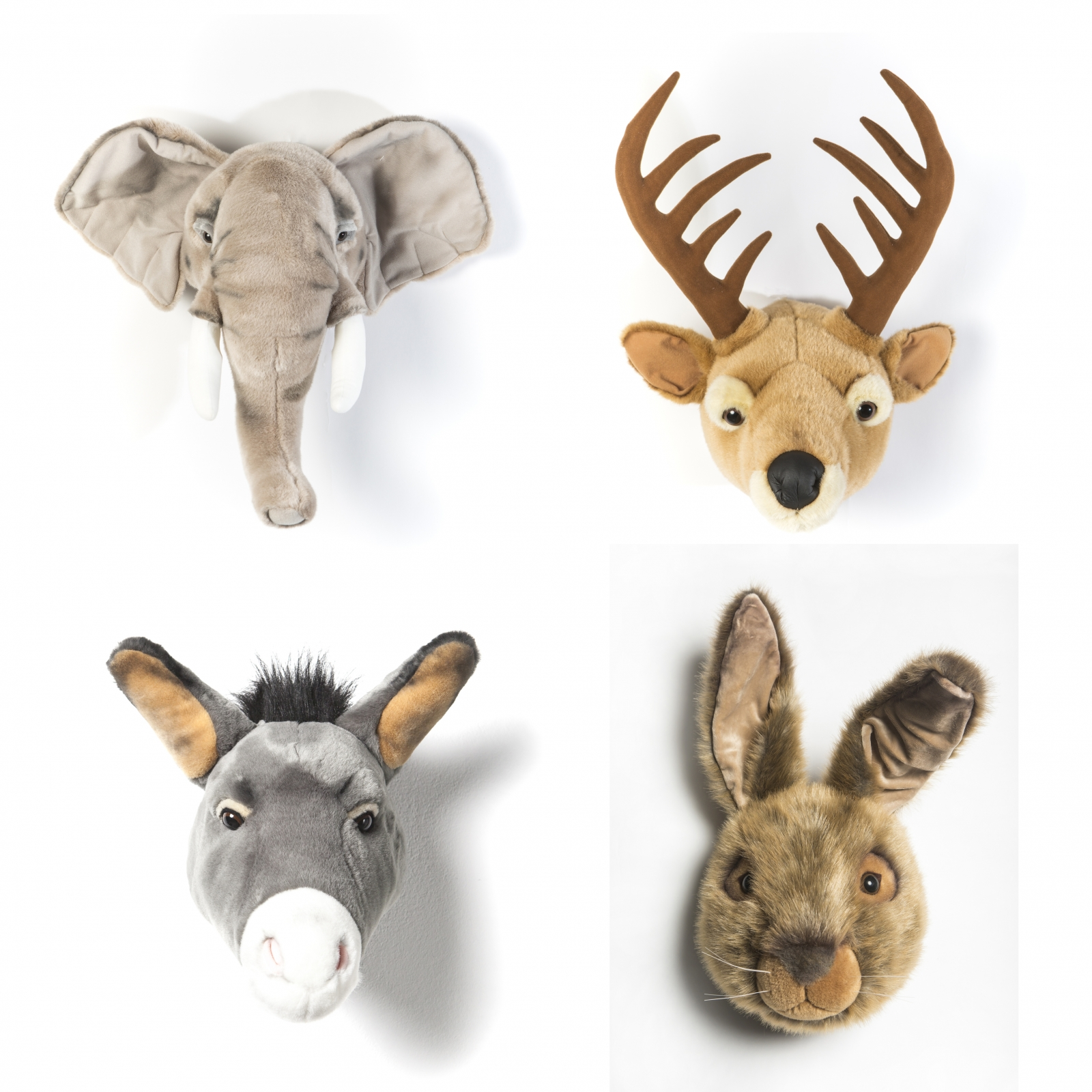 Wild & Soft Animal Head Plush