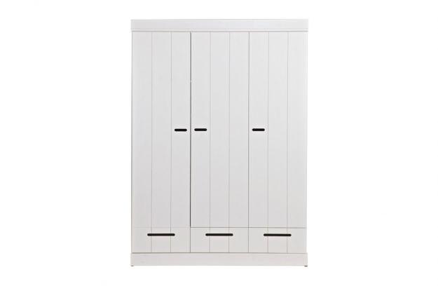 Woood Connect Wardrobe Strips Door+Drawer 3-door