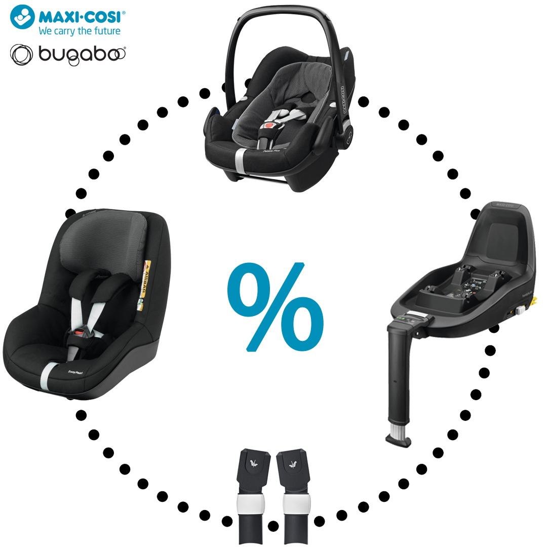 Maxi-Cosi & Bugaboo - Pebble Plus | 2wayFix | 2wayPearl | Adapters