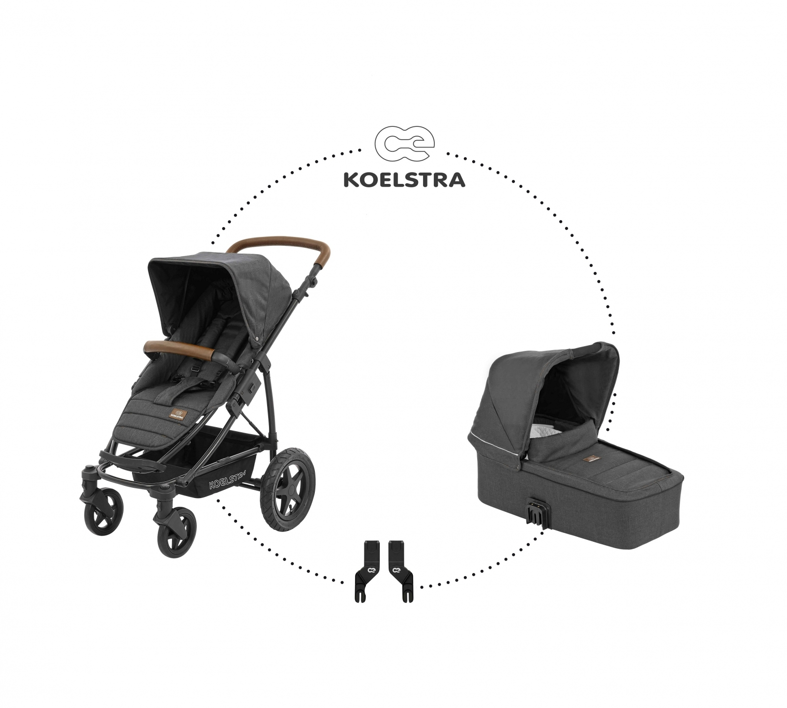 Koelstra Kinderwagenset Binque Daily Denim