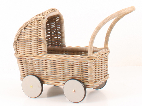 Happy Baby Doll Carriage - Grey