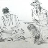 Jan Visser - Les op de academie