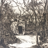 Willem de Zwart - Bos met deur
