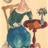 Victor Bouten - Vrouw met papagaai