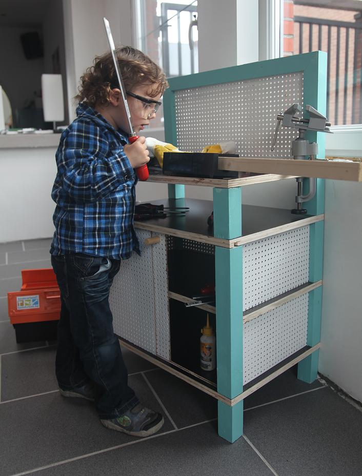 Kinderwerkbank bouwplan